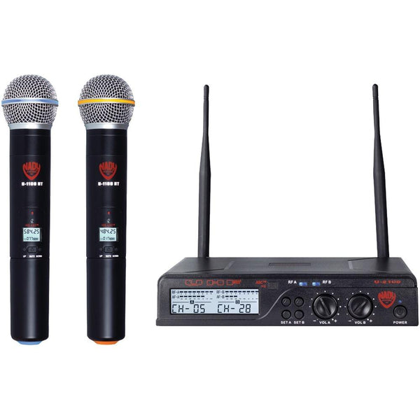 NADY U-2100 HT BAND A/B Dual UHF Wireless Handheld Microphone System