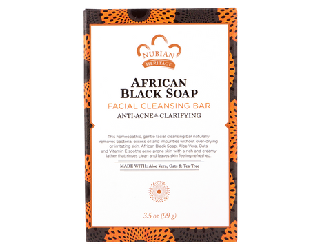 Nubian Heritage-African Black Soap Facial Cleansing Bar Soap