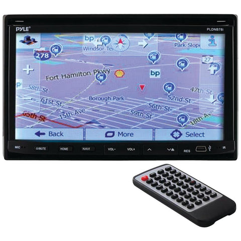 PYLE PLDNB78I 7 Double-DIN In-Dash LCD Motorized Fold-down Touchscreen Navigation DVD Receiver with Bluetooth(R) & GPS