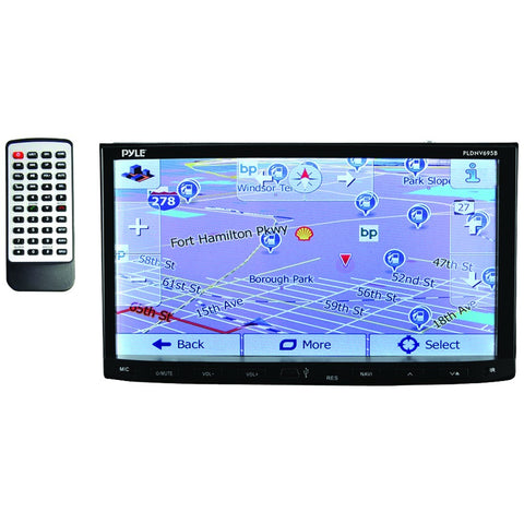 Pyle(R) PLDNV695B 7 Double-DIN In-Dash Motorized LCD Touchscreen Navigation DVD Receiver with Bluetooth(R)
