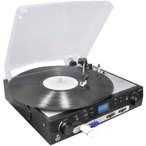 Pyle Home(R) PLTTB9U USB Turntable with Direct-to-Digital USB/SD(TM) Card Encoder