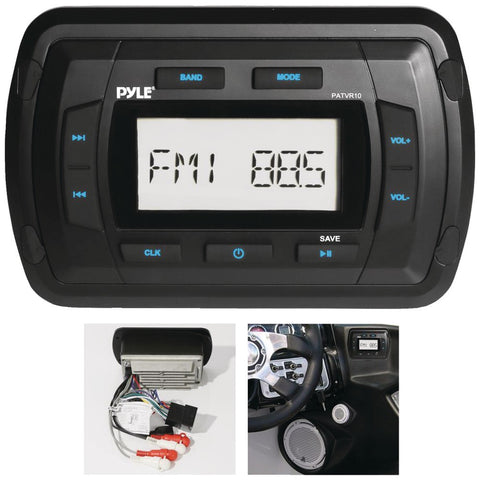 PYLE PATVR10 Marine Dash-Panel Mechless Receiver with Bluetooth(R)