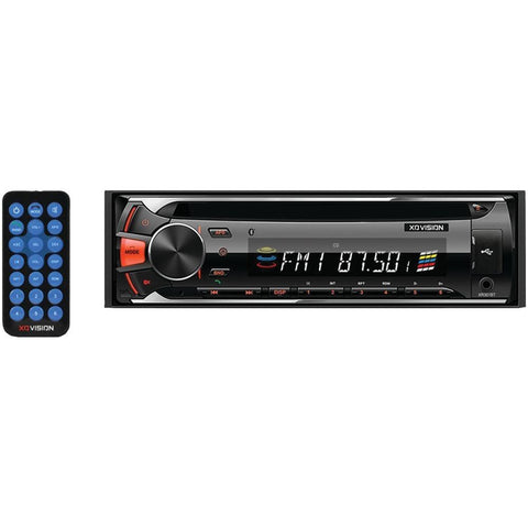XO VISION XR301BT Single-DIN In-Dash CD AM/FM-MPX2 Receiver with Bluetooth(R) & USB & SD(TM) Card Inputs