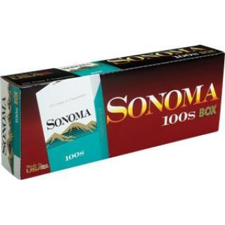 Sonoma Menthol Dark Green 100's Box