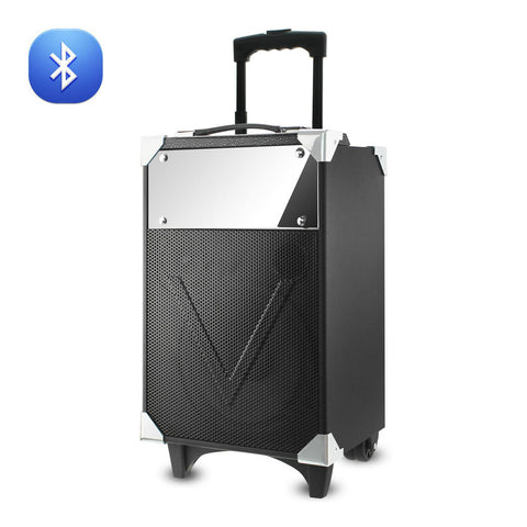 Reiko UNIVERSAL TROLLEY BLUETOOTH SPEAKER EMBEDDED WITH CONTROL PANEL IN BLACK