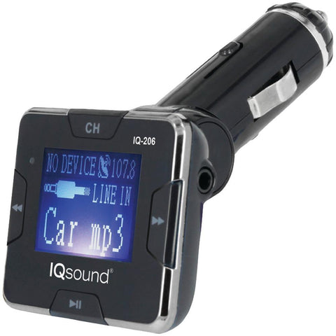 Supersonic IQ-206 SILVER Wireless FM Transmitter with 1.4 Display (Silver)