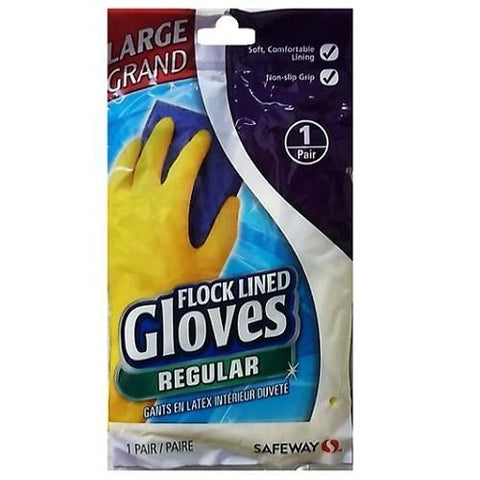 Safeway Flocked Lined Gloves Large