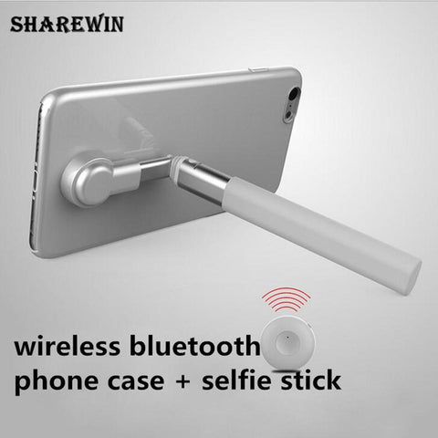 Wireless bluetooth selfie stick phone case for iphone 7