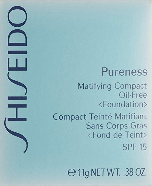 Shiseido Pureness Matifying Compact Oil Free Foundation for Women,0.38 Ounce