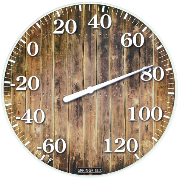 Springfield(R) Precision 98322 10 Tempered Glass Dial Thermometer (Barn Wood)