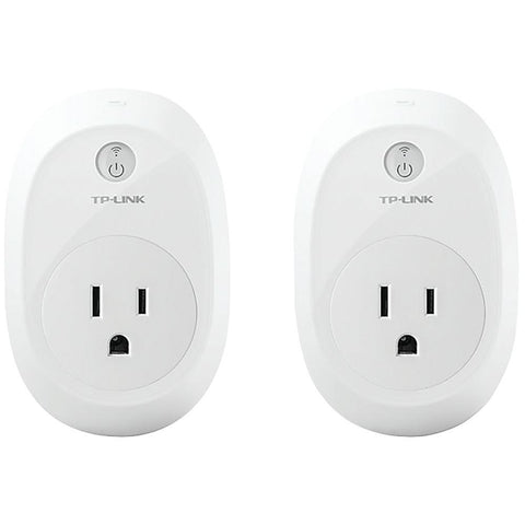 TP-LINK HS110 KIT Wi-Fi(R) Smart Plug with Energy Monitoring, 2 pk