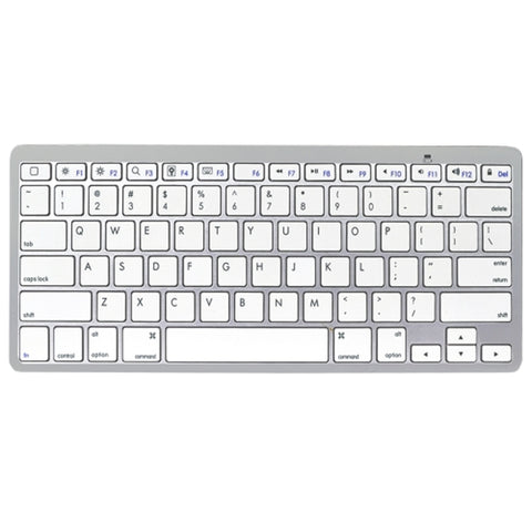 Tech Universe TU5120 Blutooth Wireless Keyboard (Silver/White) - Retail Hanging Package
