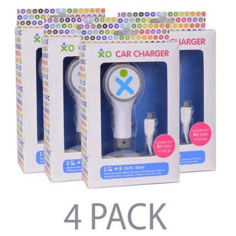 (4-Pack) Vivitar XO-CC-12 Universal USB (2.1 Amp) Car Charger w/Micro USB Cable