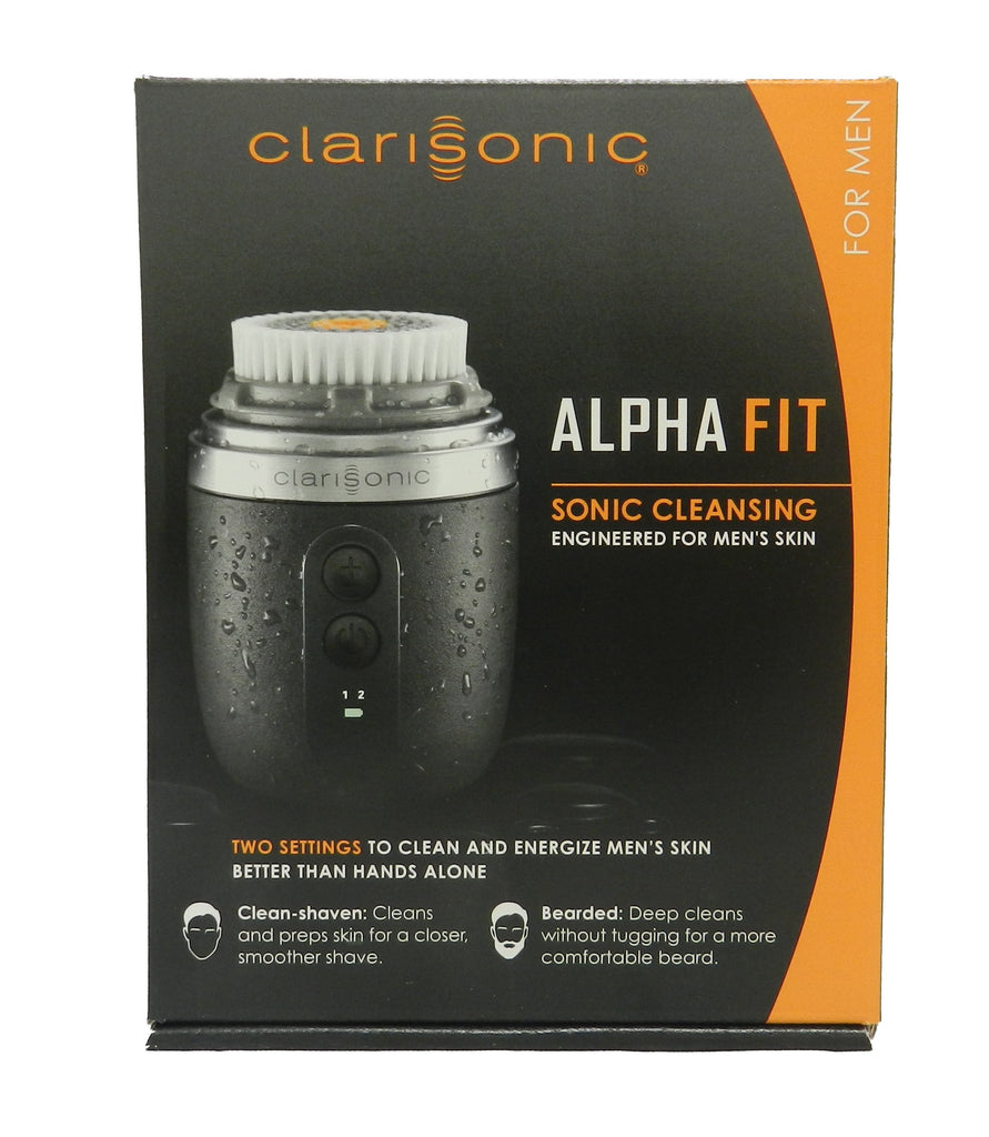 Alpha Fit Sonic Cleansing System - Gray by Clarisonic for Men, 4 Pc Kit