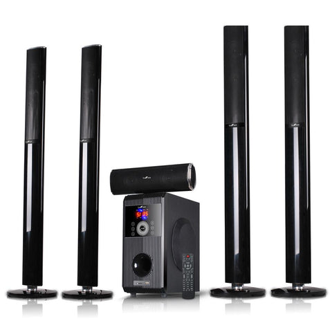 beFree Sound 5.1 Channel Surround Sound Bluetooth Speaker System-OPEN BOX