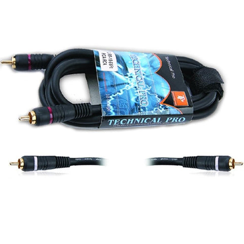 Technical Pro Dual 3 .25 in. to Dual .25 in. Audio cables