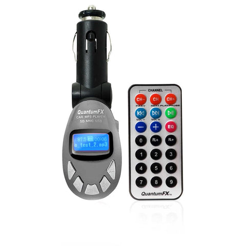 QFX Wireless FM Transmitter- Silver