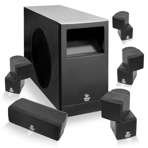 Pyle 5.1 Home Theater Passive Audio System Four Satellite, Center Channel & 10Subwoofer