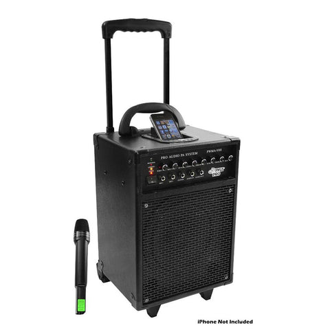 600 Watt VHF Wireless Portable PA System/Echo w/iPod Dock