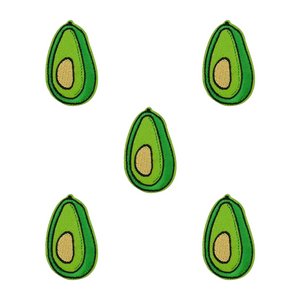 Avocado Iron-On Patch (Pack-of-Five)