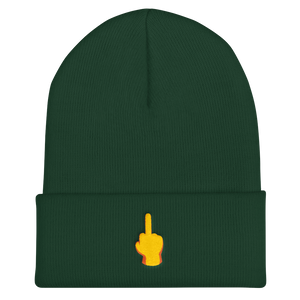 Middle Finger Cuffed Beanie