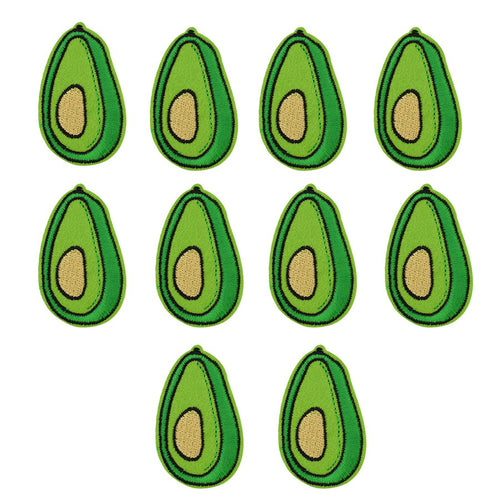 Avocado Iron-On Patch (Pack-of-Ten)
