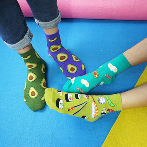 Women's OMG-Tasty Food Socks (4-Pack)