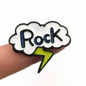 Cartoon Rock! Enamel Pins