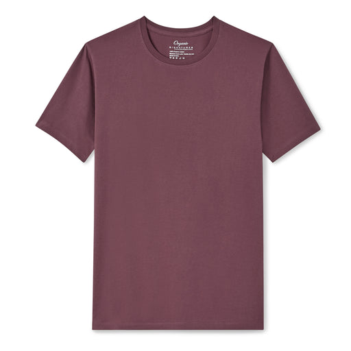 Burgundy Organic Signatures T Shirt for Men, Crewneck, Short Sleeve
