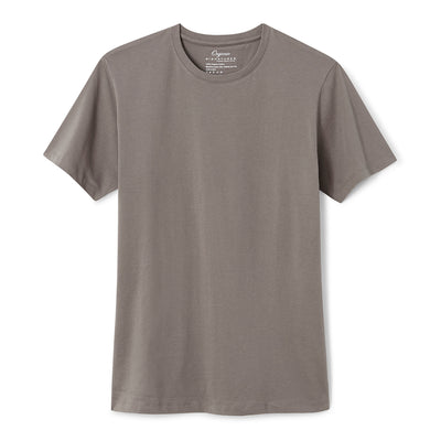 Grey Organic Signatures T-Shirt For Men, Crew Neck, Short Sleeve