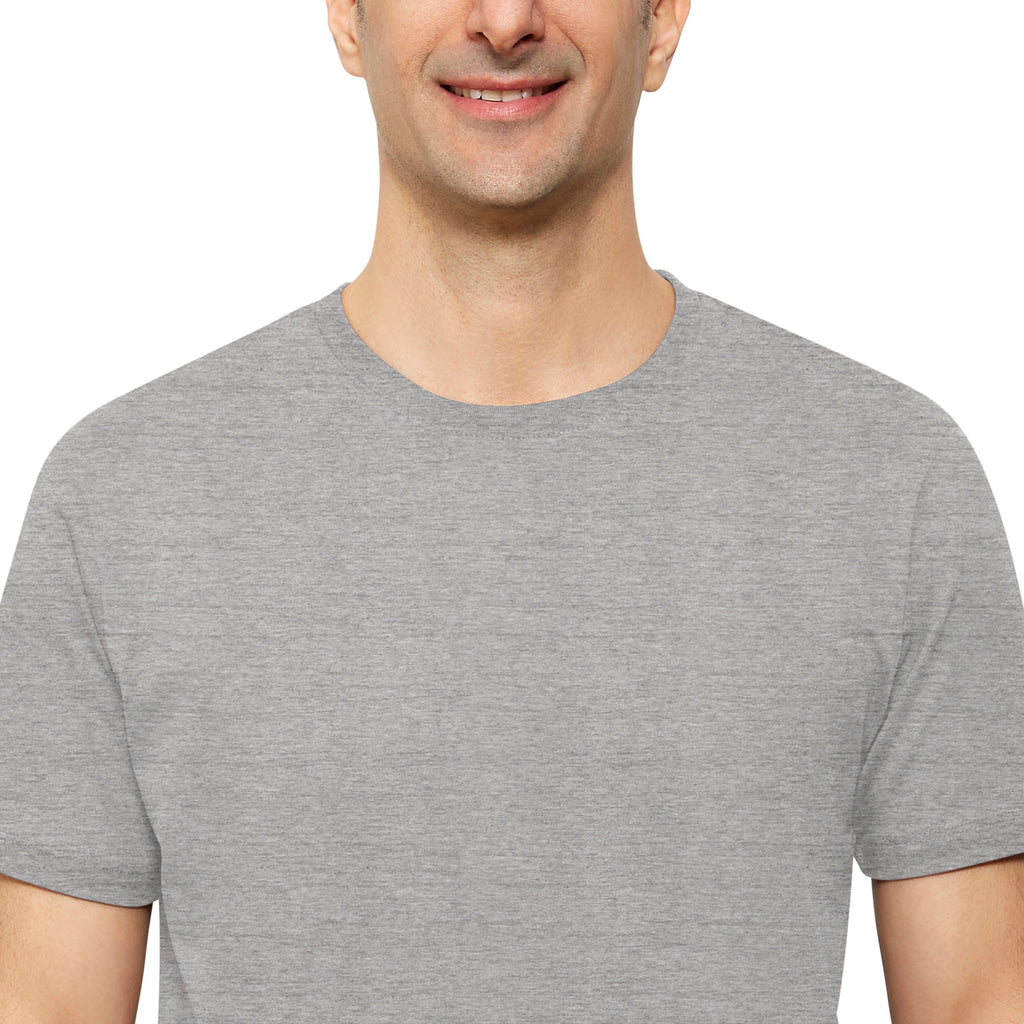 Heather Grey Organic Signatures T Shirt for Men, Crewneck, Short Sleeve