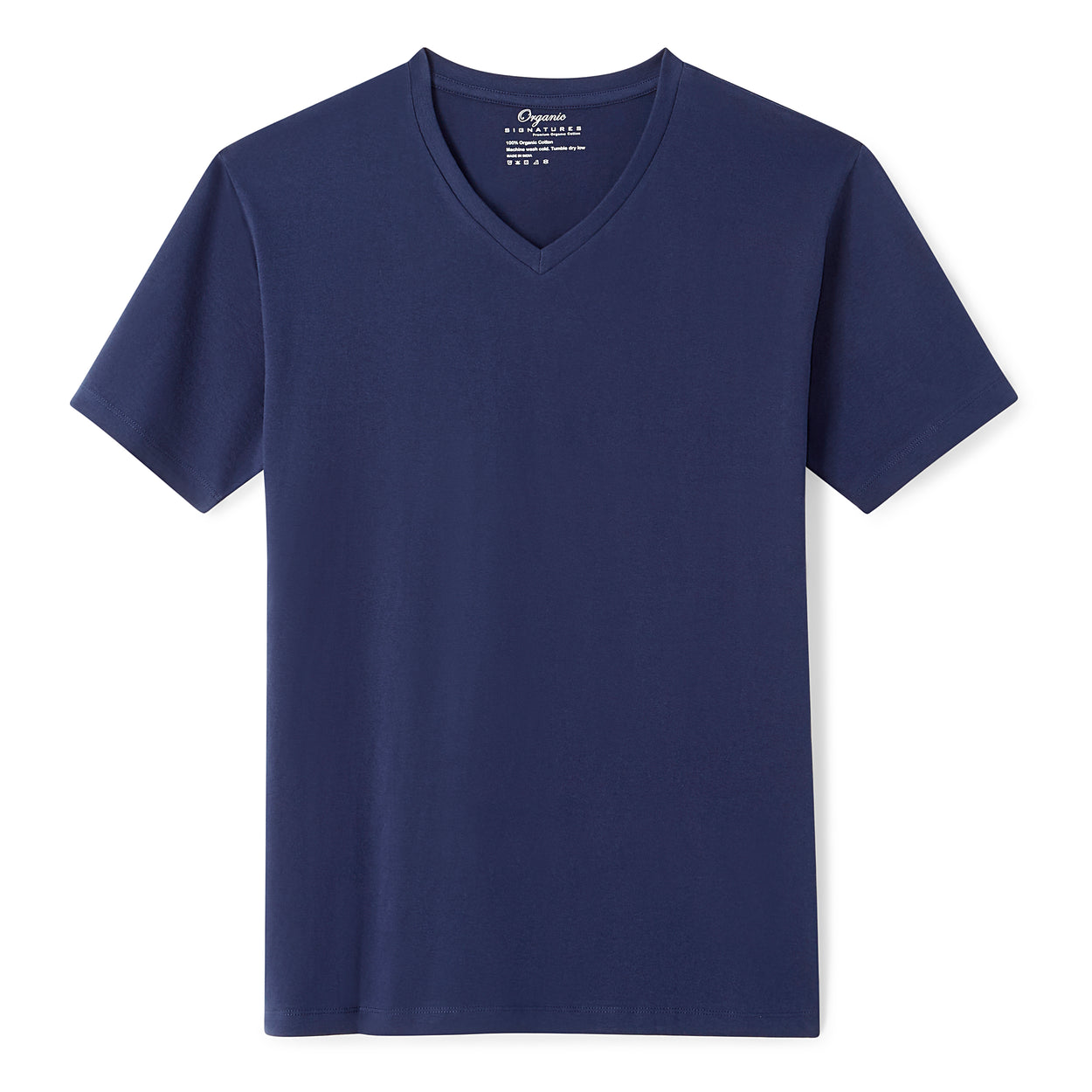 5156dd54259 Navy Blue Organic Signatures T-Shirt For Men