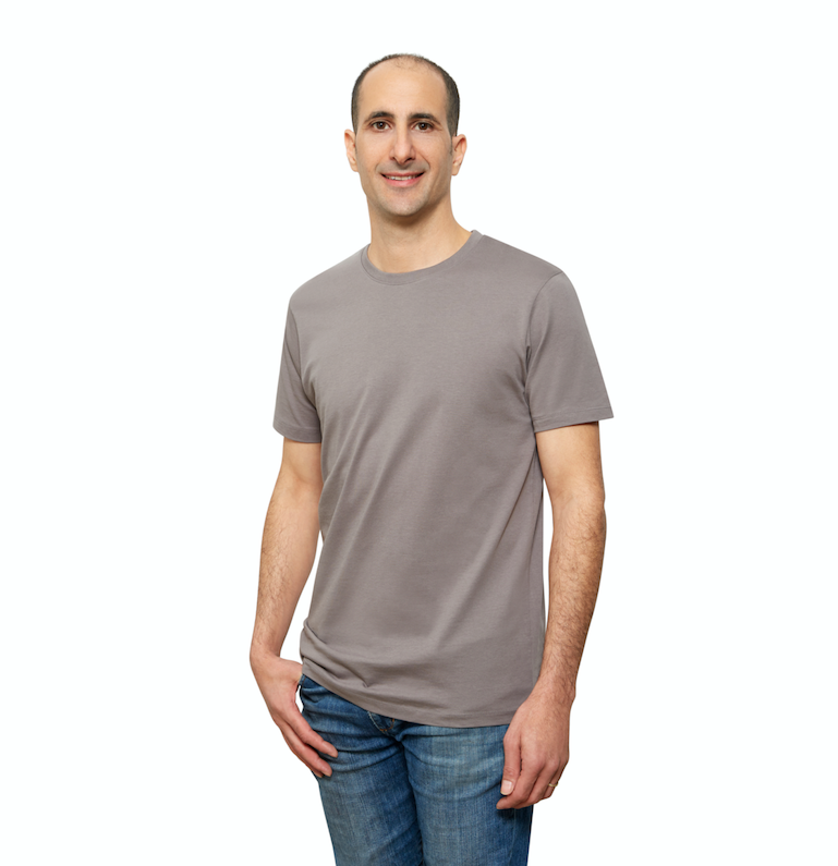 Grey Organic Signatures T-Shirt For Men, Crew Neck, Short Sleeve (side view)