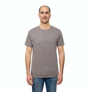 Grey Organic Signatures T-Shirt For Men, Crew Neck, Short Sleeve (front view)