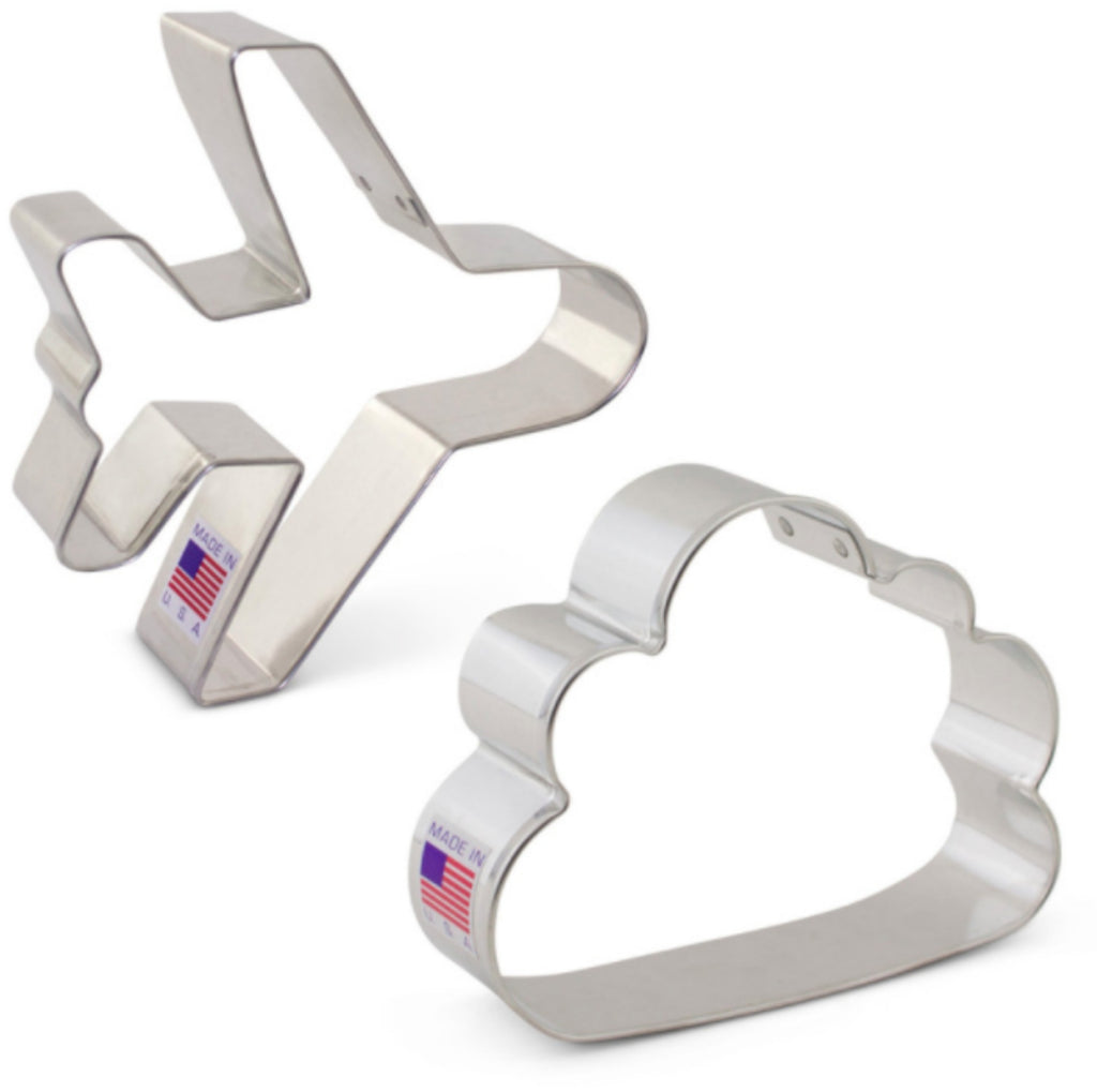 Airplane and Rain Cloud Cookie Cutter Set