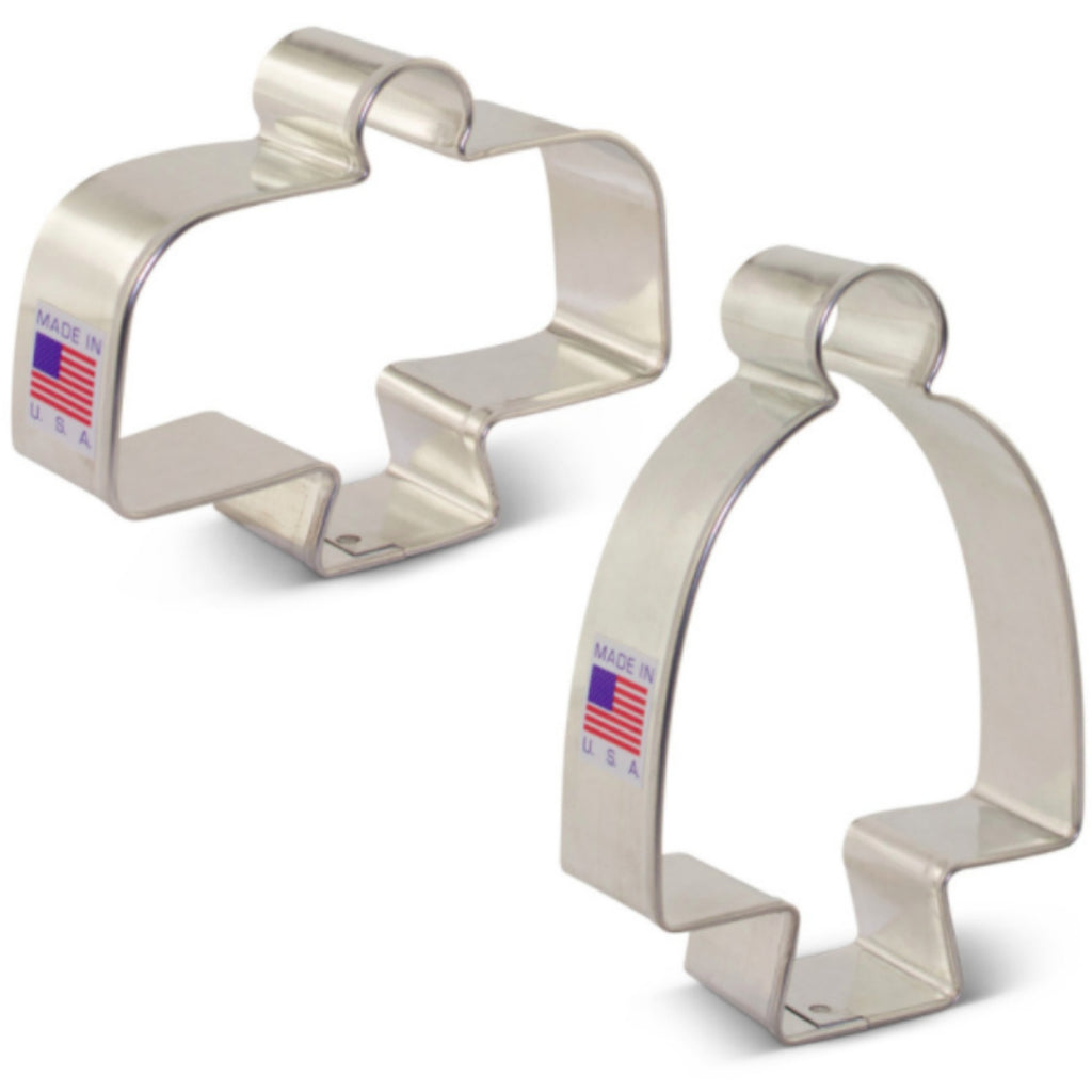 Cake Stand Cookie Cutter Set of Two