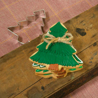 Christmas Tree Cookies Wrapped in Twine