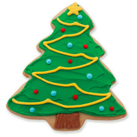 Christmas Tree Sugar Cookie with Ornaments