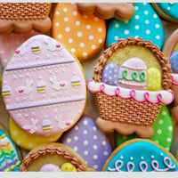 Easter Egg and Easter Basket Cookies