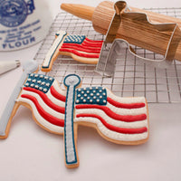 Fourth of July Sugar Cookies and Flag Cookie Cutter