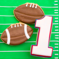 Football Cookies and Number One Cookie