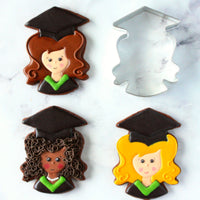 Graduation Cookies with Graduate Cookie Cutter