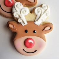 Rudolph the Red Nosed Reindeer Cookie