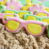 Pink and Green Sunglasses Sugar Cookies