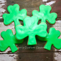 Green Shamrock Cookies