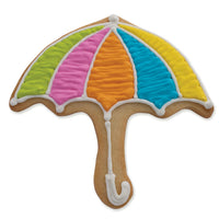 Pastel Colored Umbrella Cookie