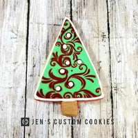 Christmas Tree Cookie with Ornaments