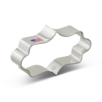 Long Fancy Plaque Cookie Cutter