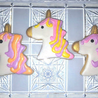 Pink and Purple Unicorn Cookies
