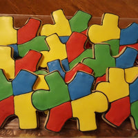 Autism Puzzle Piece Sugar Cookies